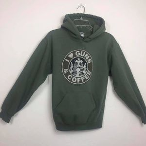 Starbucks Sweaters - I love Coffee & Guns Hoodie